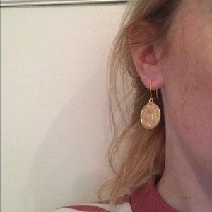Handmade gold coin earrings